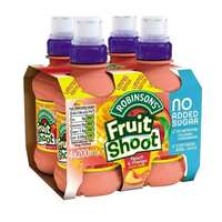 Roninsons Fruit Shoot Juice Peach And Mango 200 Ml 4 Pieces