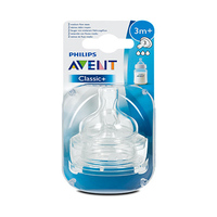 Philips Avent Classic+Teats Medium Flow 3 Holes 3 Months+