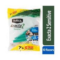 Schick Exacta 2 Sensitive Razor Blades for Women Green 7+3 Free