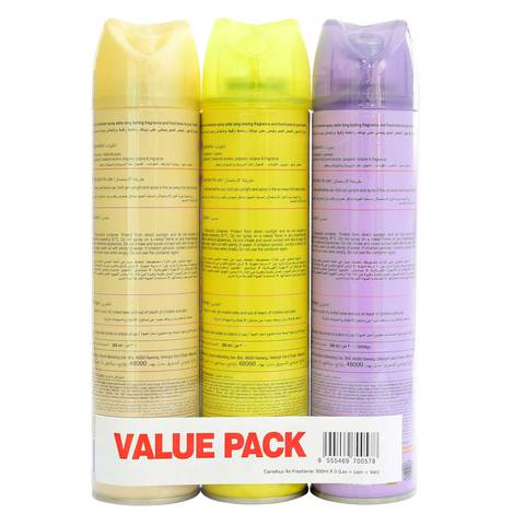 Carrefour-Air-Freshener-Lavender,-Lemon-&-Vanilla-bouquet-300ml-x3