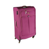 Track Soft Luggage 4 Wheels Size 32 Inch Pink