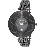 Mount Royale Women's Watch Black Dial Stainless Steel Band-20067IP