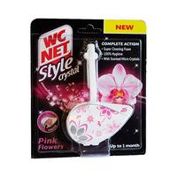 WC Net Style Crystal Blocks Pink Flowers