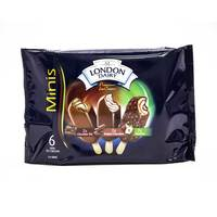London Dairy Mini Sticks Assorted Ice cream 6x60 ml