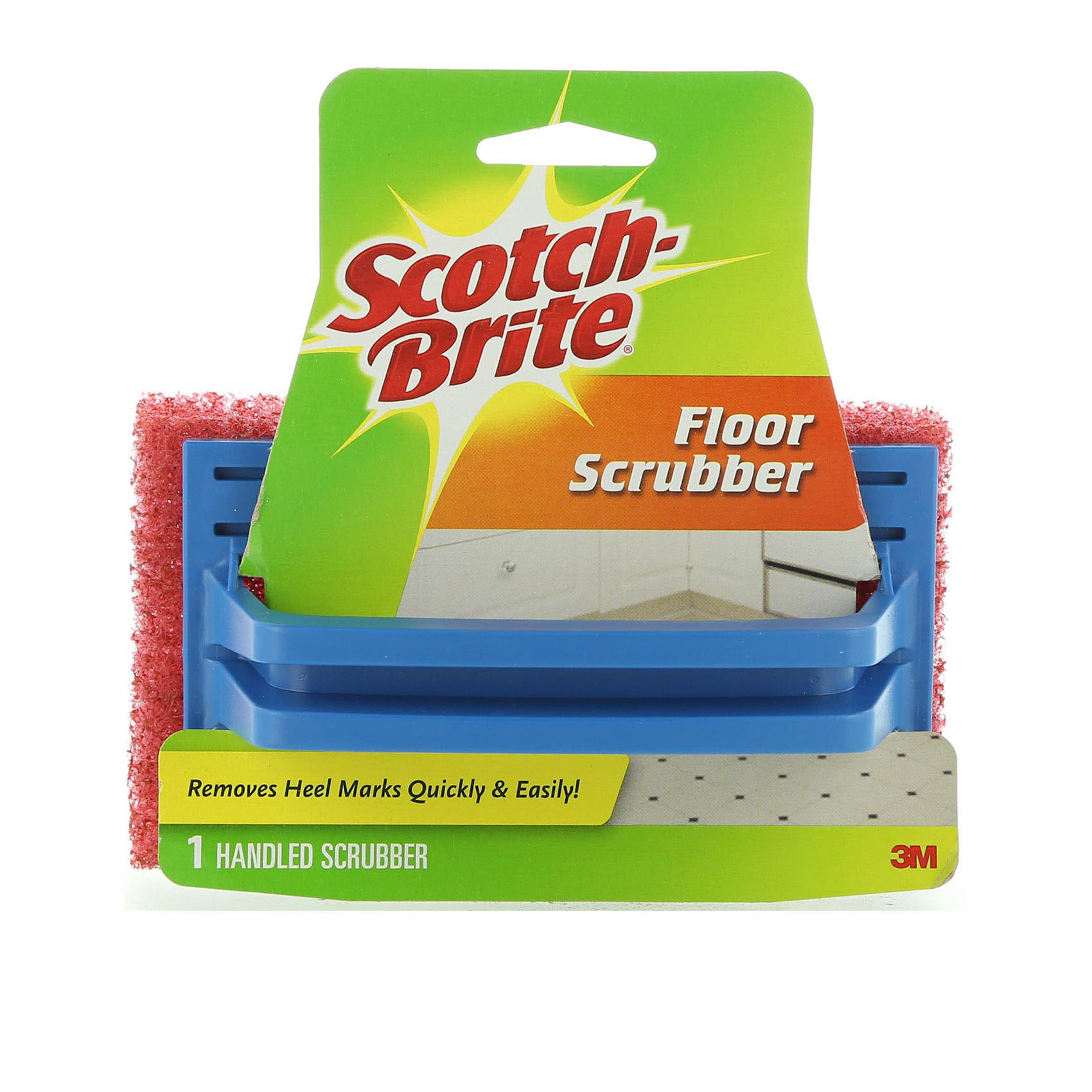 SCOTCH BRITE FLOOR SCRUB&HANDLE X1