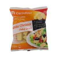 Carrefour White Cheddar Cheese Cubes 200g
