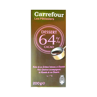 Carrefour Cooking Chocolate Dessert 64% Cacao 200GR