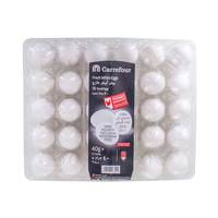 Carrefour Fresh White Eggs Small x30