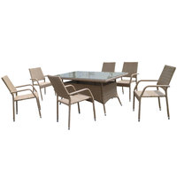 Zara Wicker Dining Set 7Pcs Without Cushions