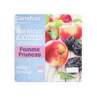 Carrefour Apple/Prune Sauce 100g x4