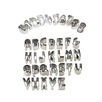 Stainless Steel Biscuit Moulds Letters And Numbers Design