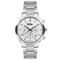 Lee Cooper Men's Multi-Function Silver Case Silver Super Metal Strap Silver Dial -LC06295.330