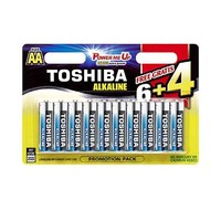 Toshiba Blue battery Type AA Alkaline  6+4 Free