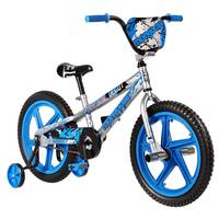 "Mongoose 18"""" Decoy Silver/Blue Bmx Bicycle"
