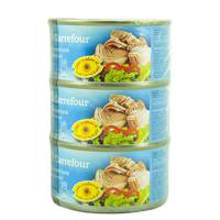 Carrefour Light Meat Tuna Chunk in Sunflower Oil 185 g x 3