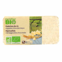 Carrefour Bio Organic Rice Cracker white Chocolate 90g