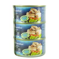 Carrefour Light Meat Tuna Chunks in Water 185 g x 3