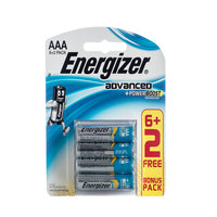 Energizer Advanced AAA 6+2 Free