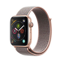 Apple Watch Series 4 (GPS Only, 44mm, Gold Aluminum, Pink Sand Sport Loop)