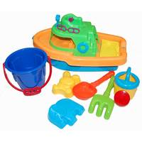 Chamdol Boat with Beach Toys ( Colors May vary)