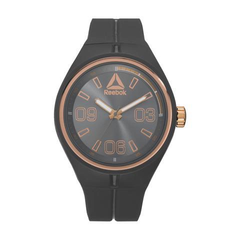 ec53249ed84a Buy Reebok Men  39 s Watch Trackline Analog Black Dial Black Silicon ...