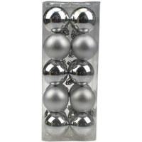 Balls Set Shiny/Matt 16Pcs 6Cm Silver