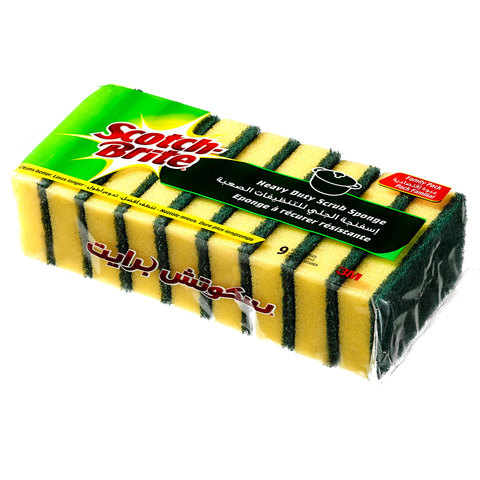 Scotch-Brite-Heavy-Duty-Scrub-Sponge-(Family-Value-Pack-X9)