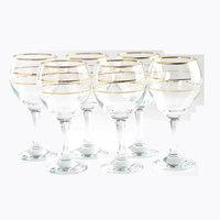 Stem Glass Gold Rim 6Pcs 26 Cl