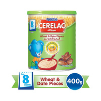 Nestlé Cerelac Wheat And Date Pieces With Milk From 8 Months 400GR Tin