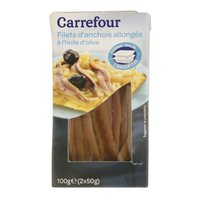 Carrefour Anchovy Fillets In Olive Oil 50gx2