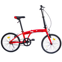 "Spartan Lamborghini 20"" Folding Bicycle Red"