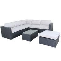 Yasmine Wicker Corner Set 5Pcs With Cushions