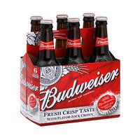 Budweiser Beer Bottle 35.5CL X6