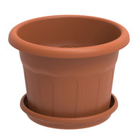 Cosmoplast Round Planter With Tray 115L