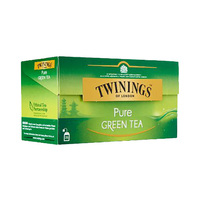 Twinings Pure Green Tea 25 Sachets 12 Count + Cap