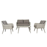 Lydia Wicker Sofa Set 4Pcs With Cushions (Delivered within 7 business days)
