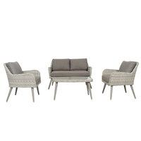 Lydia Wicker Sofa Set 4Pcs With Cushions
