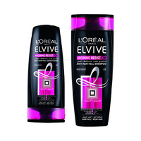 L'Oreal Paris Elvive Shampooing Arginine Resist X3 Anti Hair-Fall 400ML + Conditioner 200ML 25%