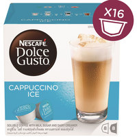 Nescafe Dolce Gusto Cappuccino Ice Coffee Capsules (16 Capsules, 8 Cups)