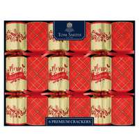 """Tom Smith  6X14"""" Red & Gold Collection  Crackers"""