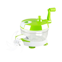 Plastic Vegetable Chopper With 3 Blades 23CM