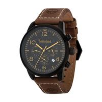 c80c64eeb6ec3 Timberland Men s Watch IPSWICH Analog Black Dial Brown Leather Band 44mm  Case