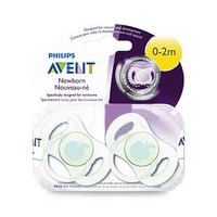 Philips Avent Mini Orthodontic Soothers For Boy 0-2 Months 2 Pieces