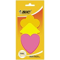 Bic Sticky Notes Mix Shapes 50 Sheets X 3 Pieces