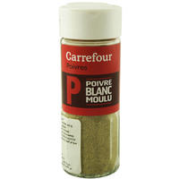 Carrefour Crushed White Pepper 42g