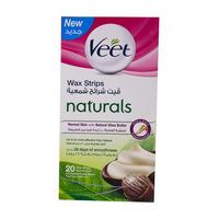 Veet Wax Strips Naturals 20 Strips
