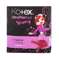 Kotex Ladies Pads Ultra Young 10 Napkins X2 + Pouch