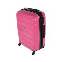 ترافل هاوس حقيبة سفر خامة صلبة من البولي بروبلين مقاس 24 إنش لون زهري