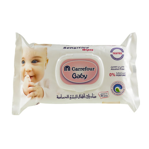 Buy Carrefour Baby Sensitive Wipes 80 Wipes Online - Shop null on ... b1c60c981ba