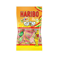 Haribo Sour Rainbow Strips Bags 150GR